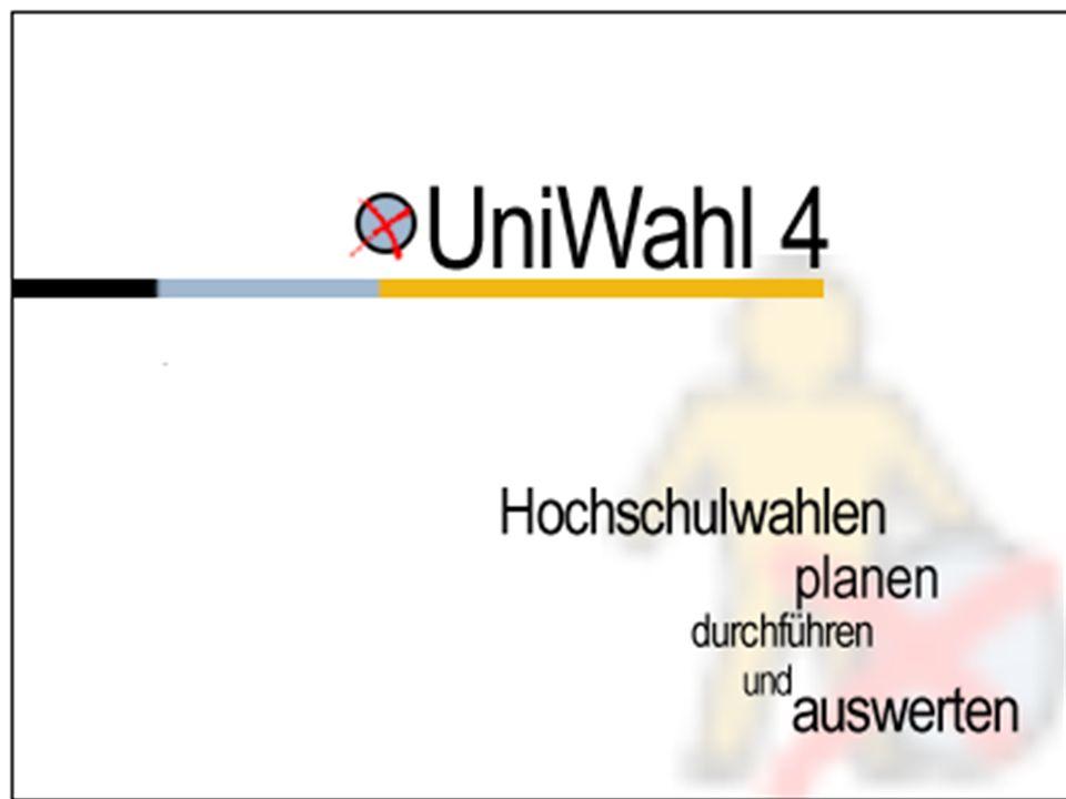 www.UniWahl-soft.de Das universelle Programm zur Verwaltung der Wahlen von Hochschulgremien, Personal- und Betriebsräten u.a.