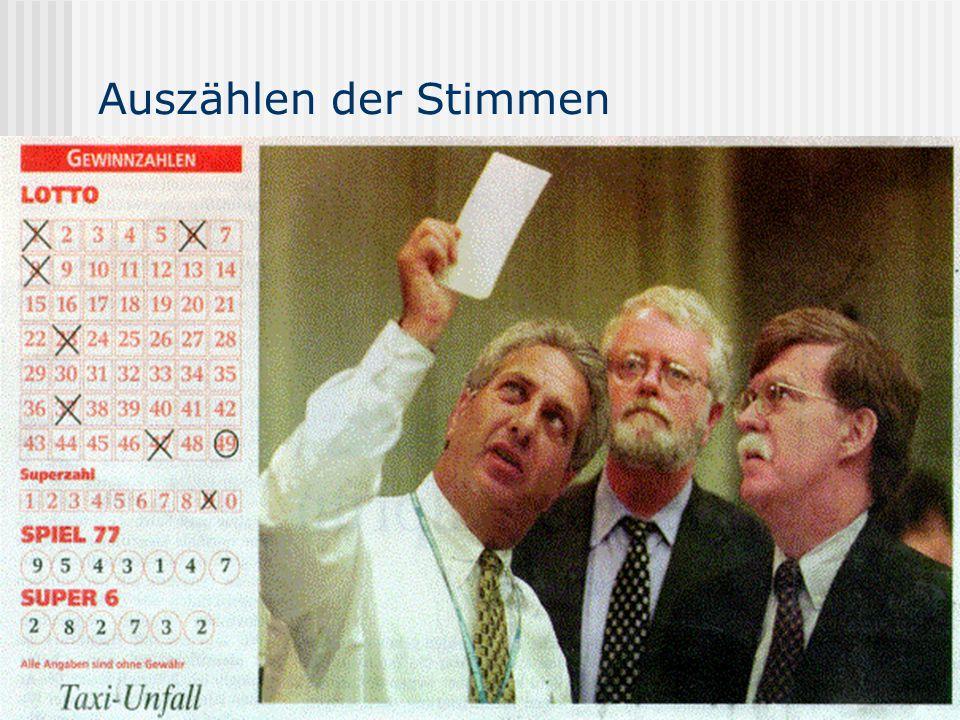 www.UniWahl-soft.de Auszählen der Stimmen