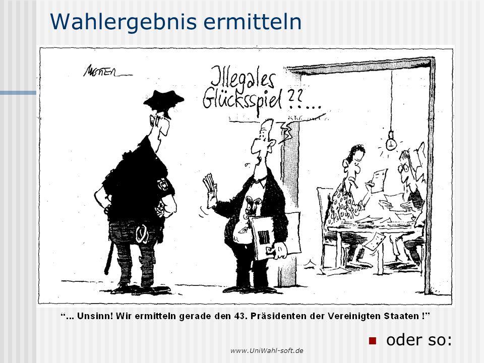 www.UniWahl-soft.de Wahlergebnis ermitteln oder so: