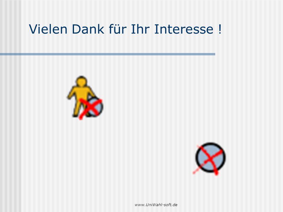 www.UniWahl-soft.de Vielen Dank für Ihr Interesse !