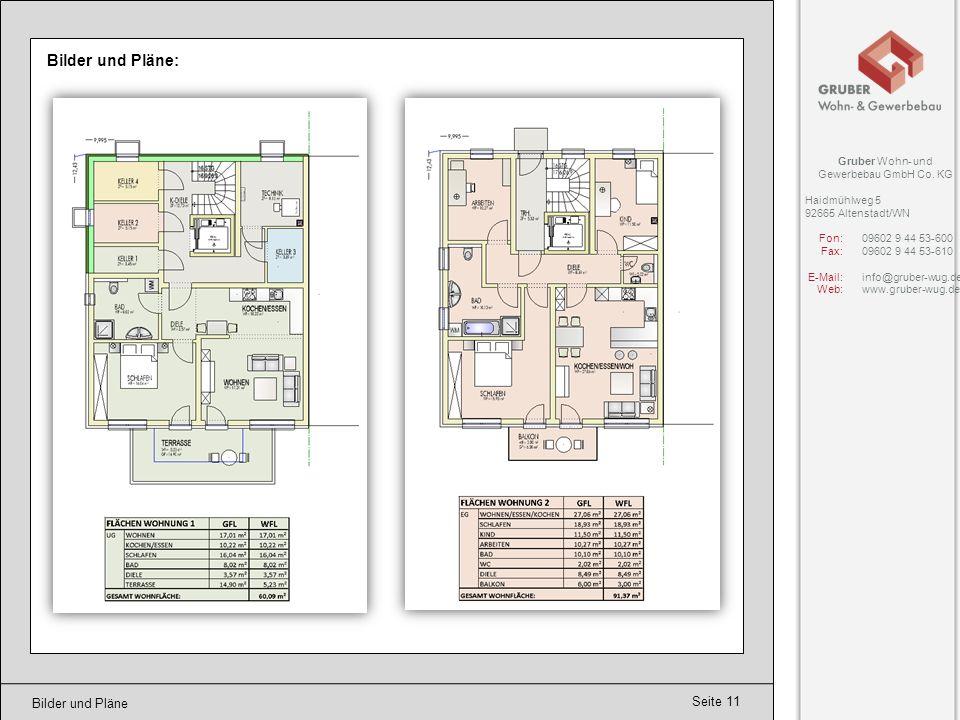 Seite 12 Bilder und Pläne Bilder und Pläne: Gruber Wohn- und Gewerbebau GmbH Co.