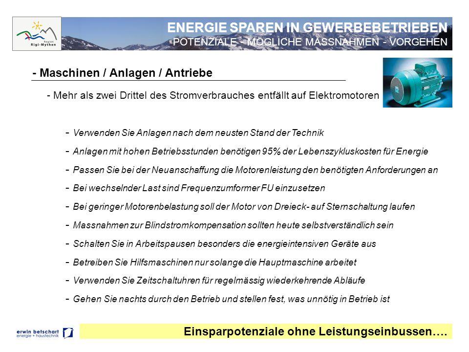 - Druckluft Einsparpotenziale von 50% sind keine Seltenheit….