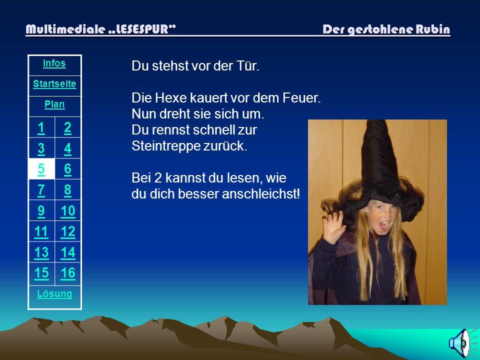 Multimediale LESESPUR Der gestohlene Rubin Infos Startseite Plan 12 34 56 78 910 1112 1314 1516 Lösung Vor diesem Haus steht kein Besen.