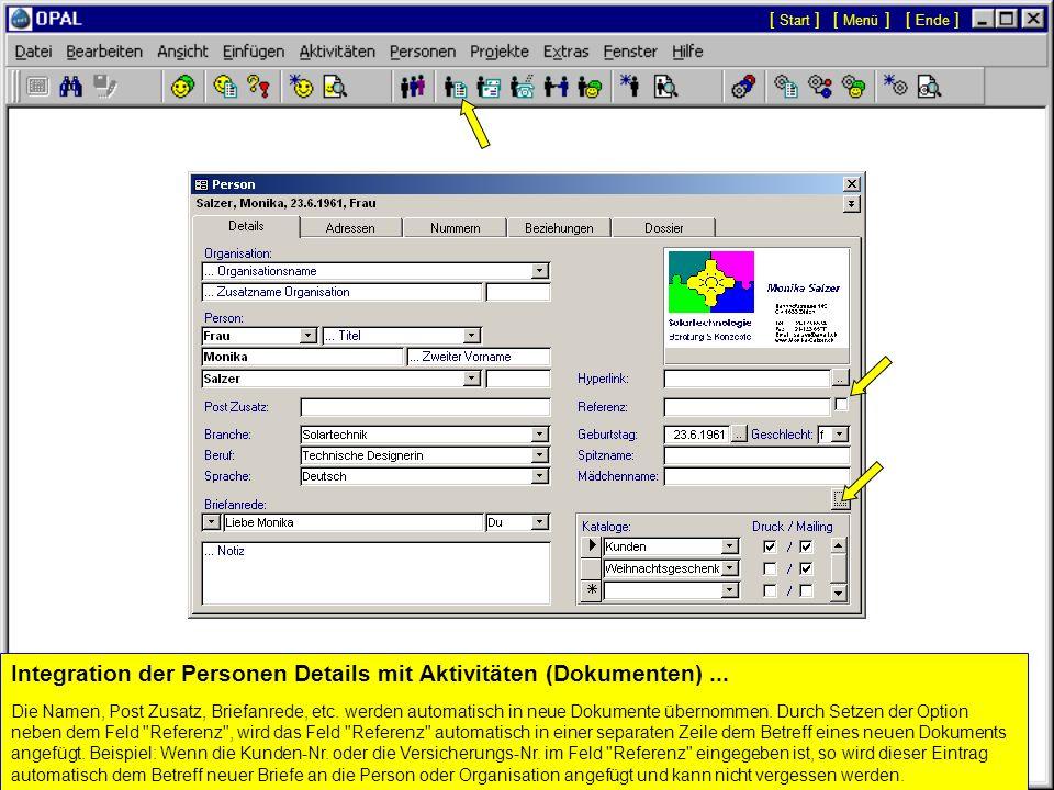 Klick, um eine neue Person hinzuzufügen... Bestehende Personen werden während der Eingabe automatisch in den Namensfeldern angezeigt um Duplikate zu v