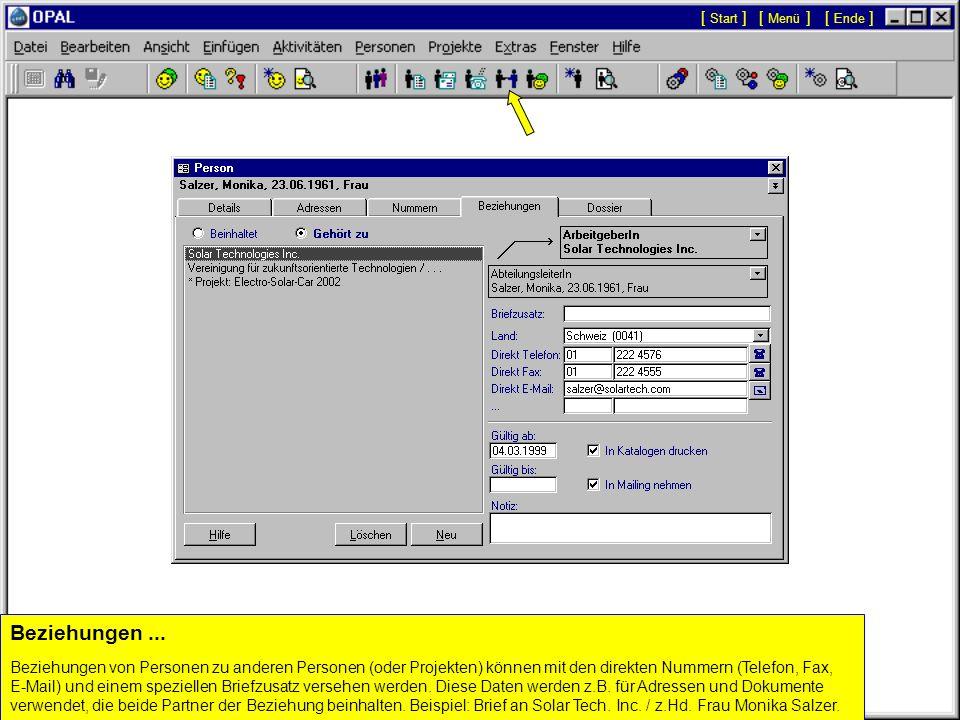 Automatisch eingetragene Felder und Optionen... Die Gebietsvorwahl wird automatisch eingetragen, wenn in der Datenank eine bestehende Nummer für die g