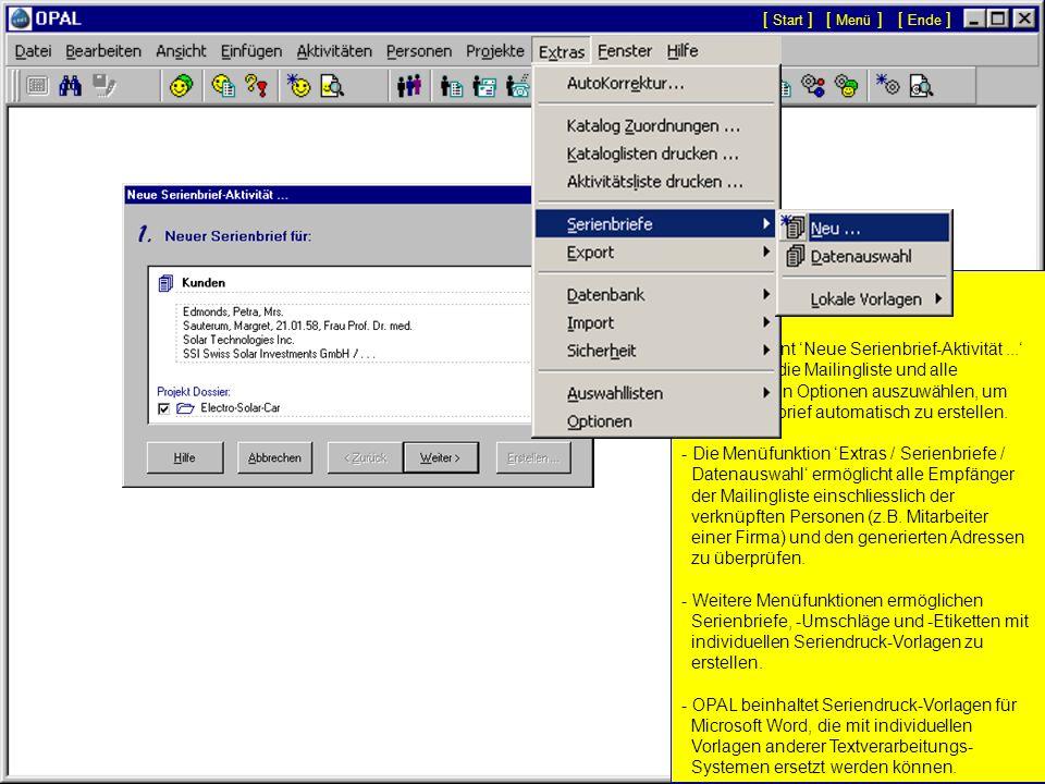 Kataloge und Aktivitätenlisten drucken... - Kataloge und Aktivitätenlisten können auf die Formate A4, A5, A6 und für die Agenden Prime Time und Time S