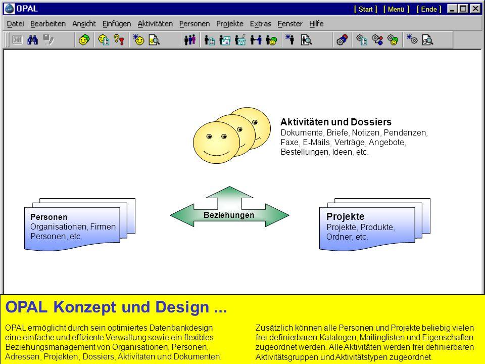 Dossier eines Projekts Aktivitäten und Dokumente...