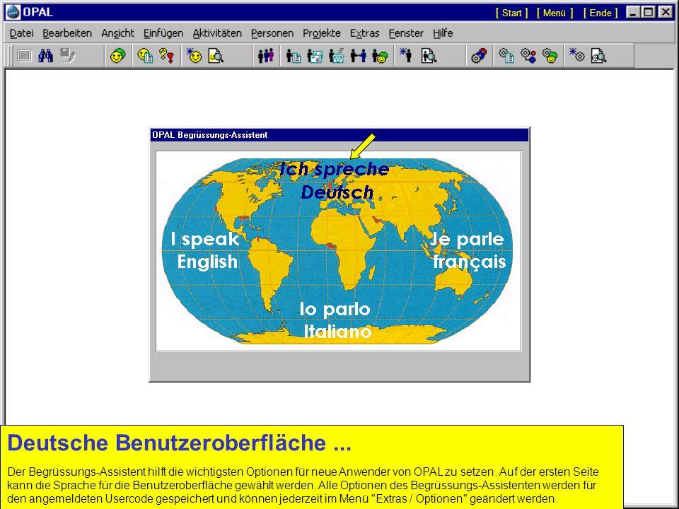 Deutsche Benutzeroberfläche...