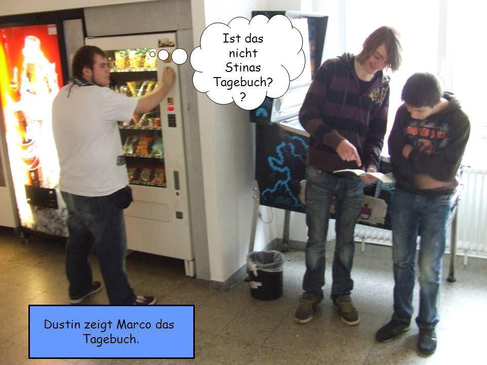 Dustin zeigt Marco das Tagebuch. Ist das nicht Stinas Tagebuch? ?