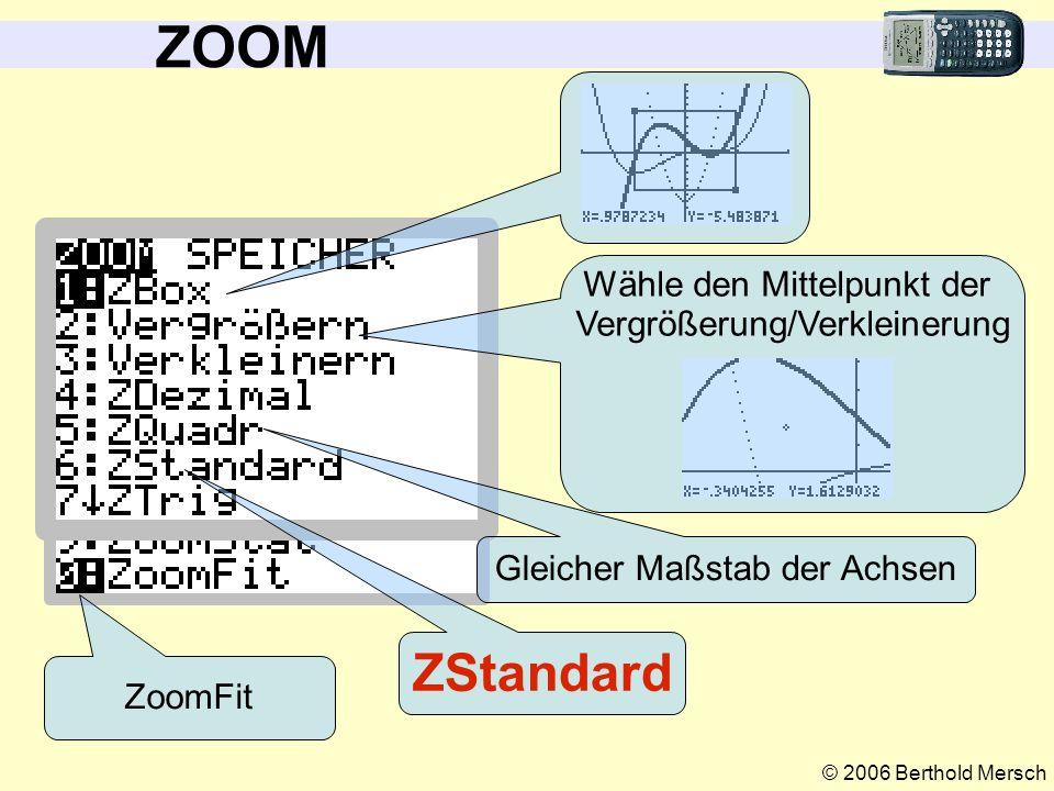 © 2006 Berthold Mersch TRACE Kann man auch mit der Tastatur eingeben