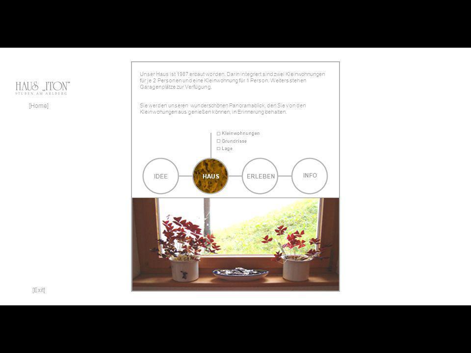 IDEE [Home] HAUSERLEBEN INFO Uns ist es ein Anliegen, Ihnen einen schönen Rahmen für Ihren Aufenthalt in Stuben zu geben.