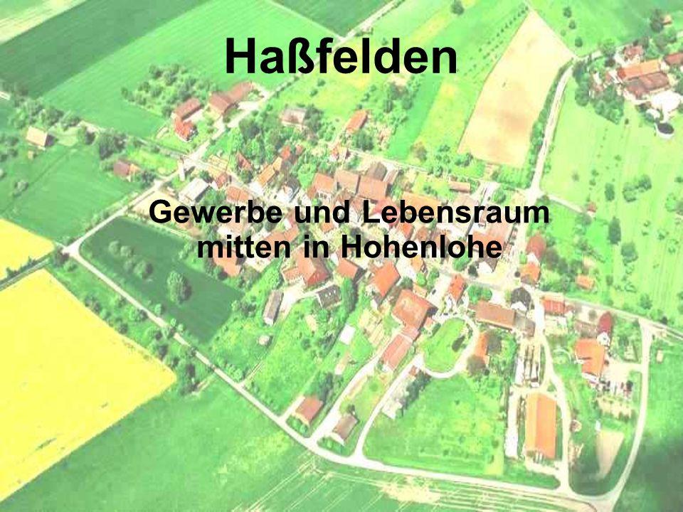 Haßfelden Gewerbe und Lebensraum mitten in Hohenlohe