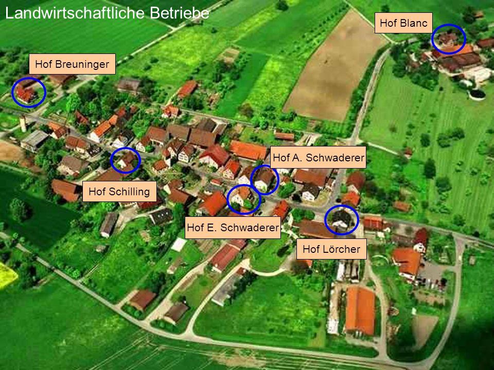 Hof Breuninger Hof Blanc Hof Lörcher Hof E. Schwaderer Hof Schilling Landwirtschaftliche Betriebe Hof A. Schwaderer