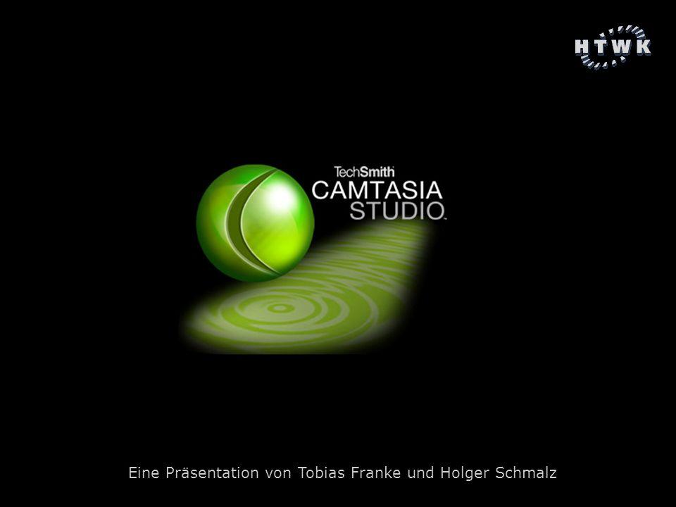 Camtasia Studio Tobias Franke, Holger Schmalz Folie 2 Gliederung 1 Allgemeine Vorstellung 2 Programmfeatures 2.1 Aufnehmen 2.2 Bearbeiten 2.3 Publizieren 3 Einsatzmöglichkeiten 3.1 Einsatzmöglichkeiten in der Lehre 3.2 Sonstige Einsatzmöglichkeiten 4 Systemkomponenten und Add-Ons 5 Produktbewertung 5.1.
