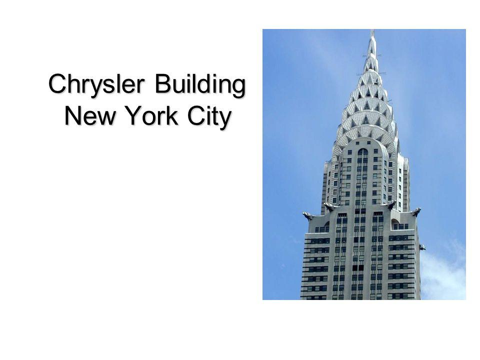 26.01.2009Chrysler Building - Christian Schulz 2 Fakten des Chrysler Buildings Lage: –Lexington Avenue / 42nd Street Baujahr: –1928 – 1930 Gebäudehöhe: –318,9m (bis Antennenspitze) –282,0m (bis zum Dach) –274,0m (77.