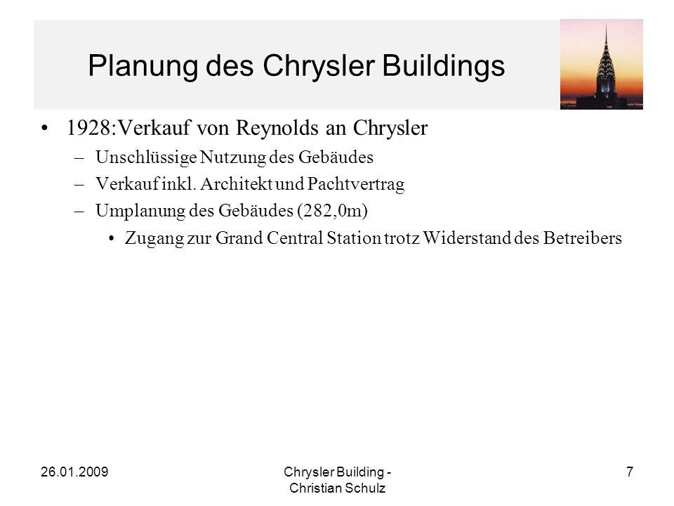 26.01.2009Chrysler Building - Christian Schulz 8 Persönlichkeiten Walter P.