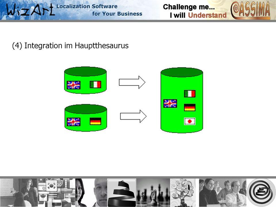 (4) Integration im Hauptthesaurus