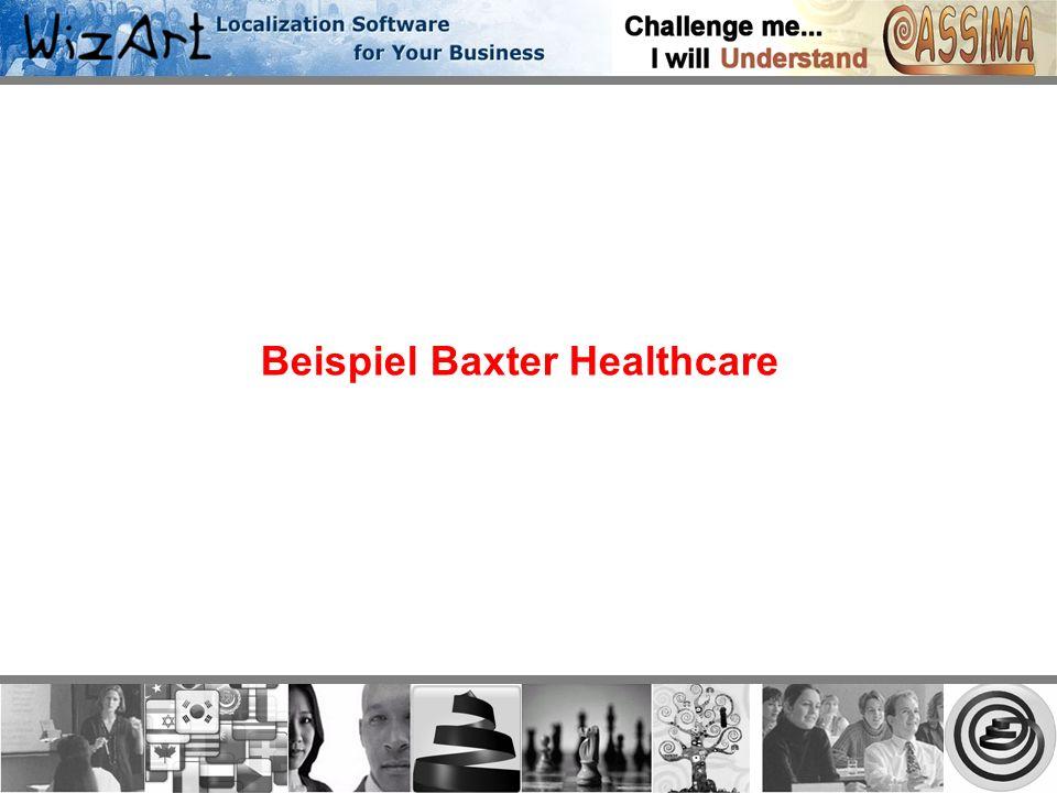 Beispiel Baxter Healthcare