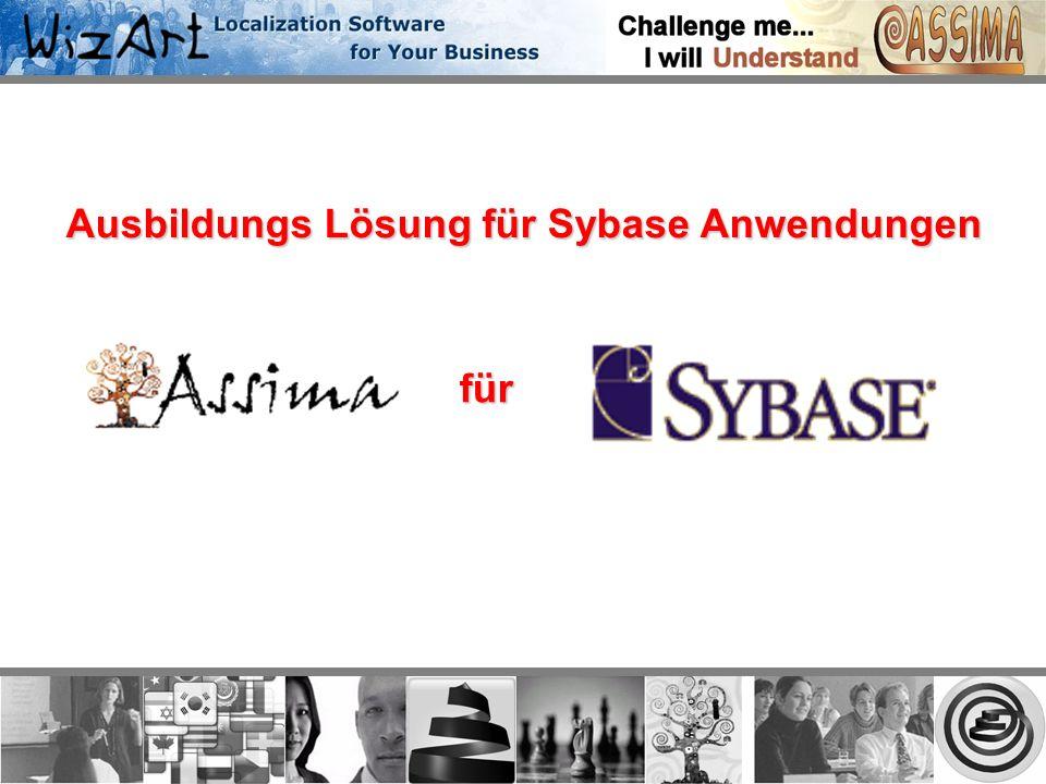 Ausbildungs Lösung für Sybase Anwendungen für