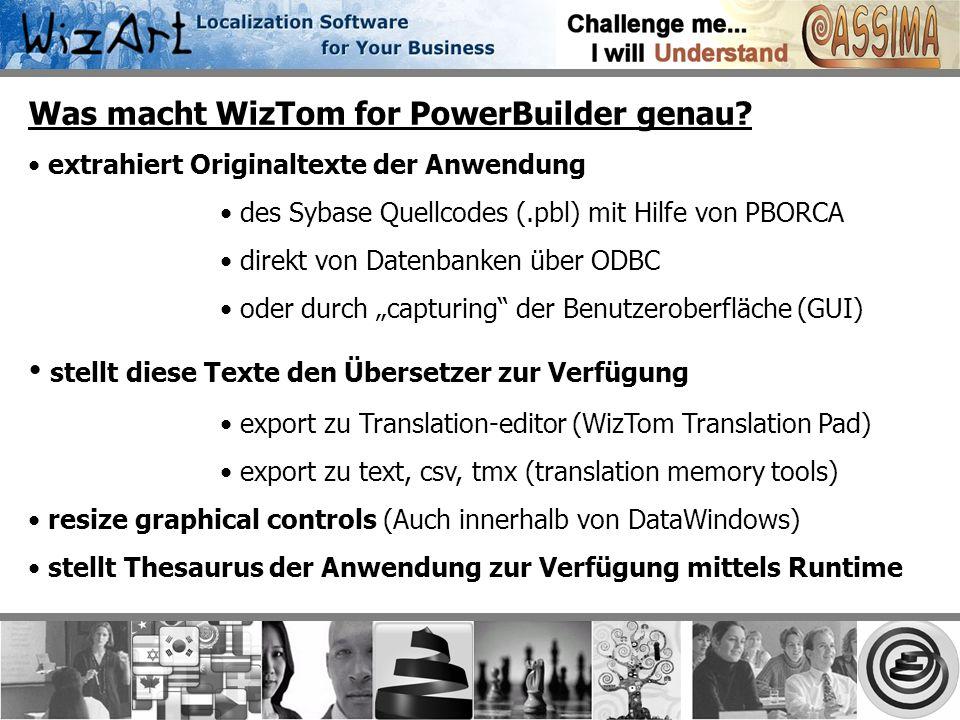 Was macht WizTom for PowerBuilder genau.