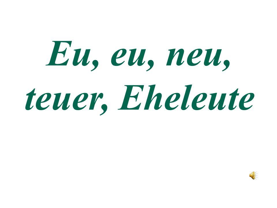 Буквосочетание eu читается как ой (иголка с двумя концами)