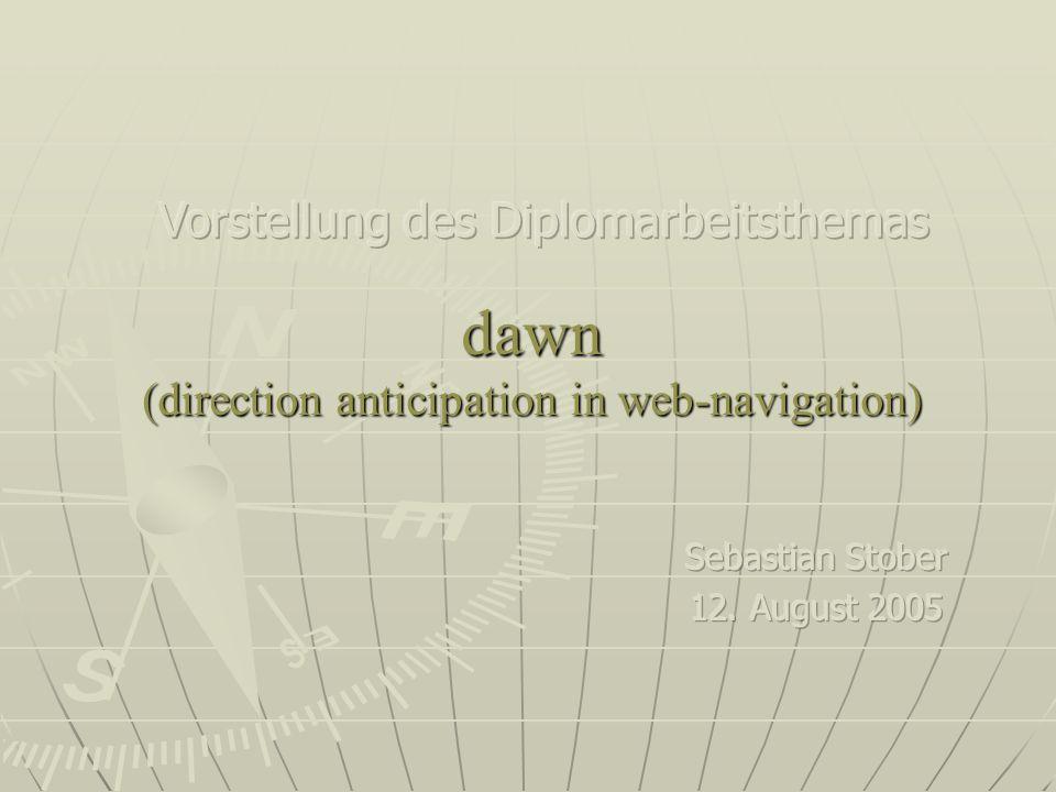 dawn (direction anticipation in web-navigation)
