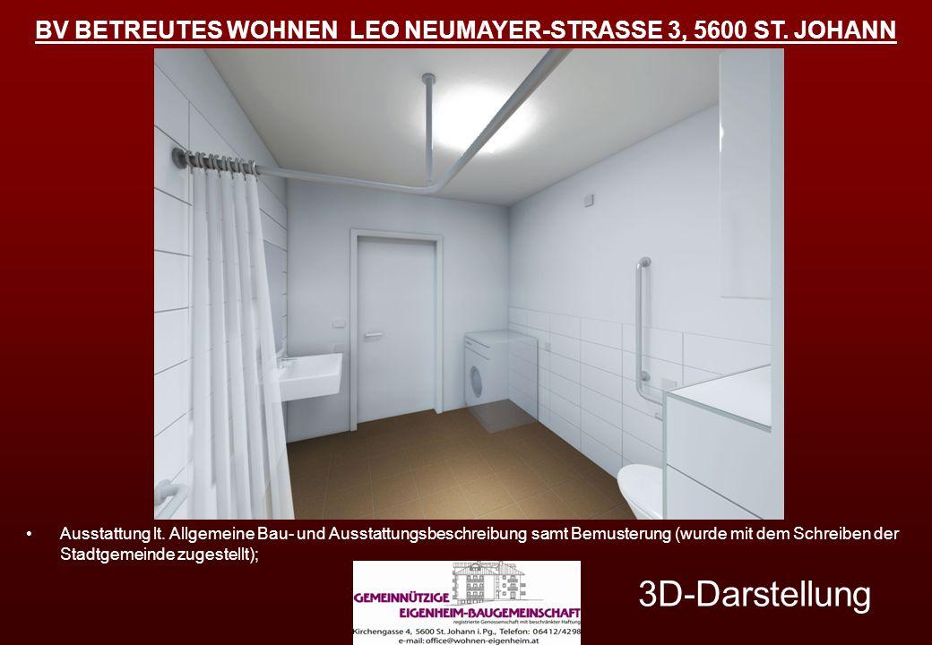 3D-Darstellung Ausstattung lt. Allgemeine Bau- und Ausstattungsbeschreibung samt Bemusterung (wurde mit dem Schreiben der Stadtgemeinde zugestellt);
