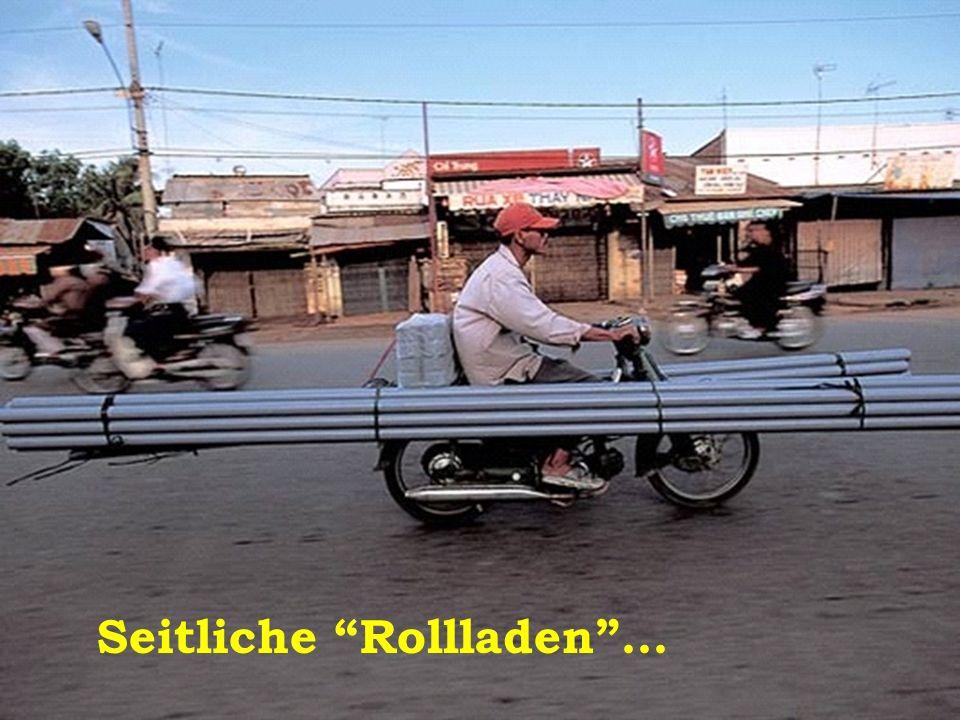 Motorrad-Kran natürlich Nur in China möglich.