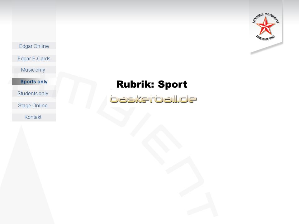 Edgar Online Music only Sports only Students only Kontakt Edgar E-Cards Stage Online Sports only Rubrik: Sport