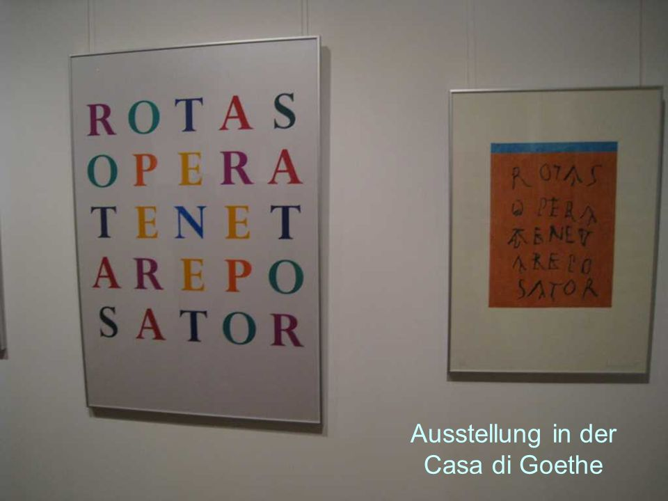 Ausstellung in der Casa di Goethe