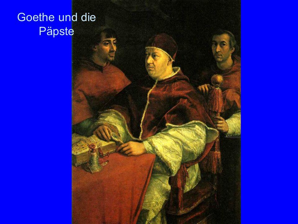 Goethe und die Päpste