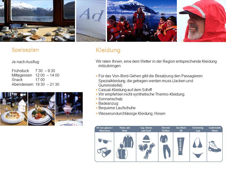 Route : Expedition Antarctic Dream Programm beinhaltet Kabine Ihrer Wahl Frühstück, Mittagessen, Tee, Abendessen und Willkommens- Cocktail Benutzung der Bibliothek Benutzung des Gymnastikraums und der Sauna Lesungen und Ausstellungen an Bord Informationen über die Region Passagierversicherung (P&I) Ausflug in Zodiac-Booten Ärztliche Versorgung an Bord Programm beinhaltet nicht Flüge zu Anlegehäfen Pässe oder Visa Steuern oder Bordsteuern am Flughafen/ Häfen Im Programm nicht spezifizierte Transfers Telefon Nutzung des Internet Mahlzeiten oder Getränke, die auf der Speisekarte nicht aufgeführt sind.