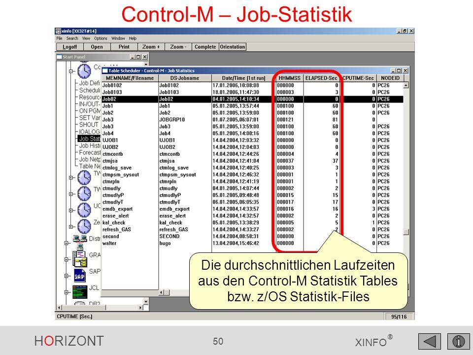HORIZONT 51 XINFO ® XINFO – Daten Export Mit File save as können XINFO- Daten exportiert werden Dateityp angeben: txt, csv, htm, wmf, bmp, jpg, u.v.w.