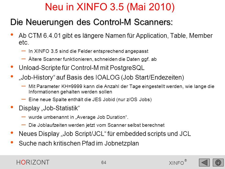 HORIZONT 65 XINFO ® Kritischer Pfad im CTM Jobnetzplan Im Jobnetzplan gibt es eine neue Suchfunktion: Critical Path
