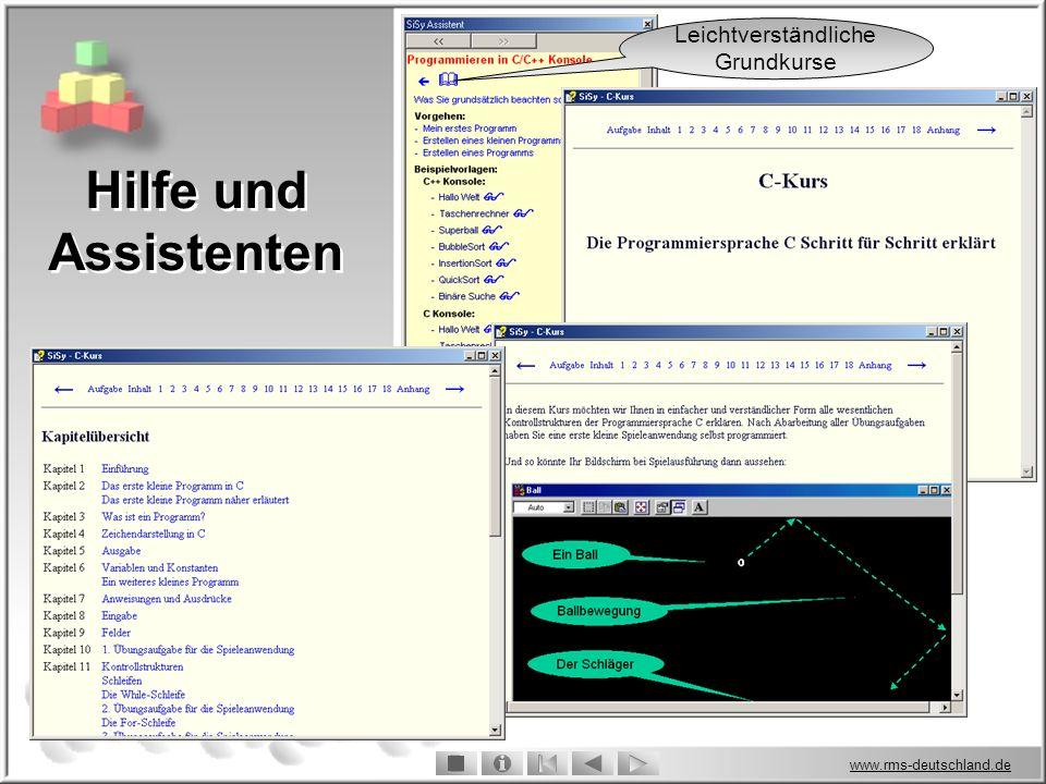 www.rms-deutschland.de Hilfe und Assistenten Leichtverständliche Grundkurse