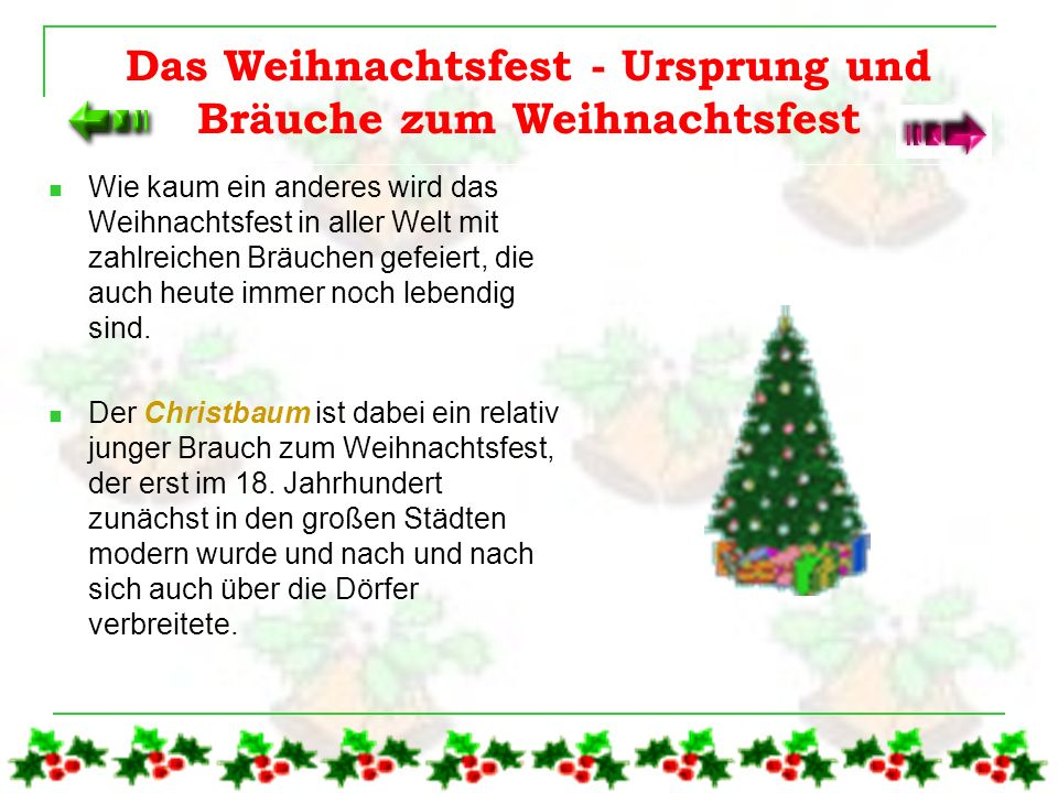 Der Inhalt Das Weihnachtsfest - Ursprung und Bräuche zum Weihnachtsfest Das Weihnachtsfest - Ursprung und Bräuche zum Weihnachtsfest Die Erfindung des