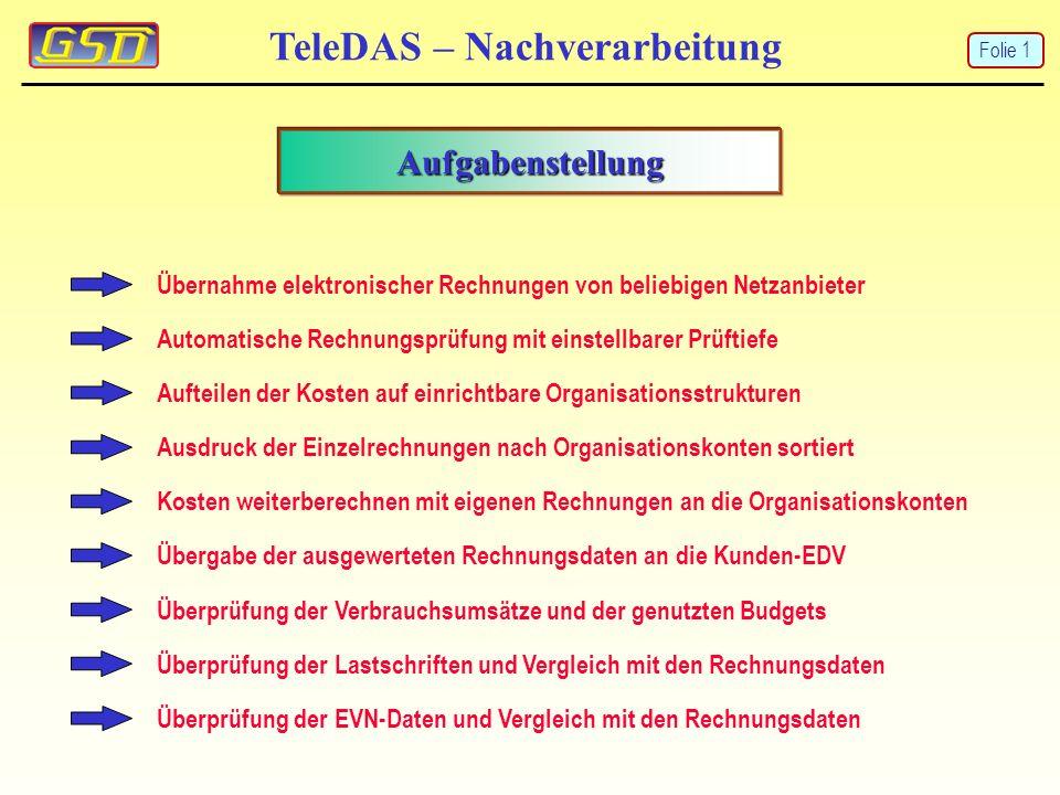 TeleDAS – Nachverarbeitung Auswertung an SAP Folie 12