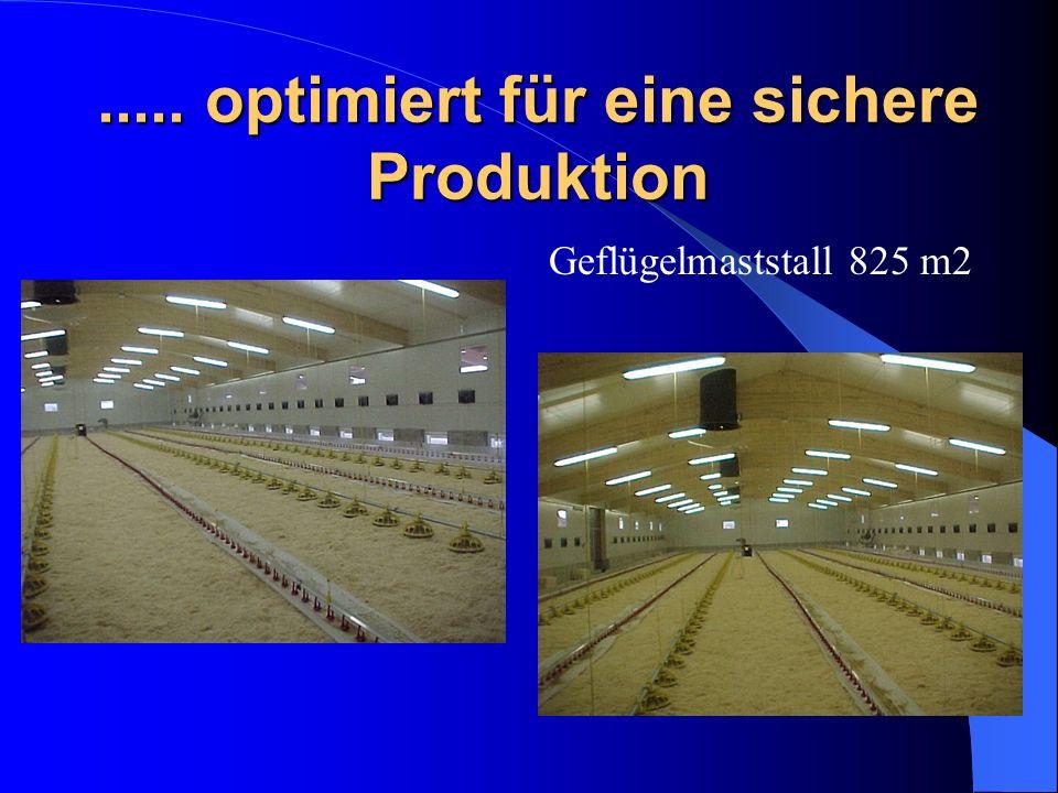 ..... optimiert für eine sichere Produktion Geflügelmaststall 825 m2