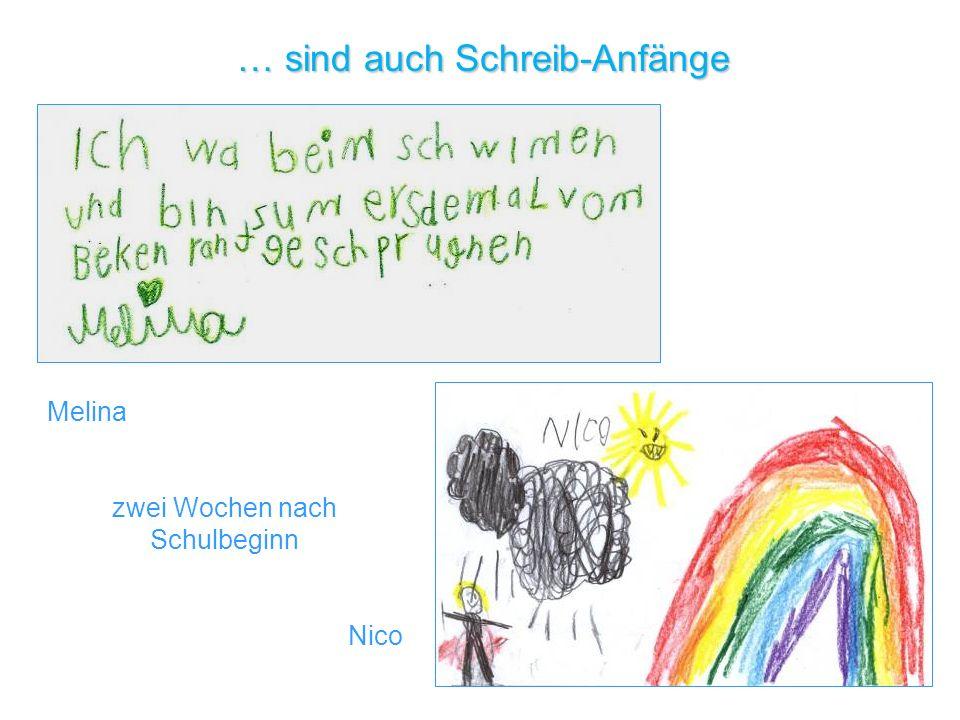 Melina zwei Wochen nach Schulbeginn Nico … sind auch Schreib-Anfänge