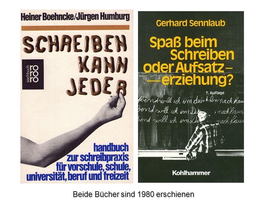 Beide Bücher sind 1980 erschienen