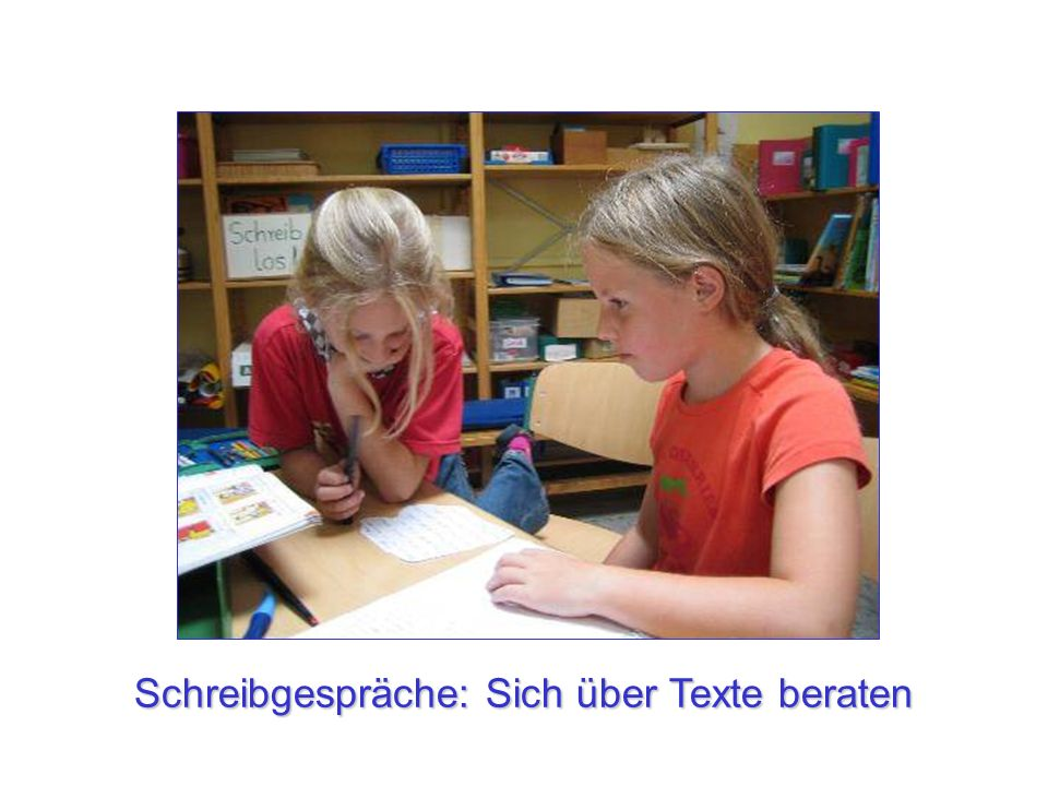 Schreibgespräche: Sich über Texte beraten