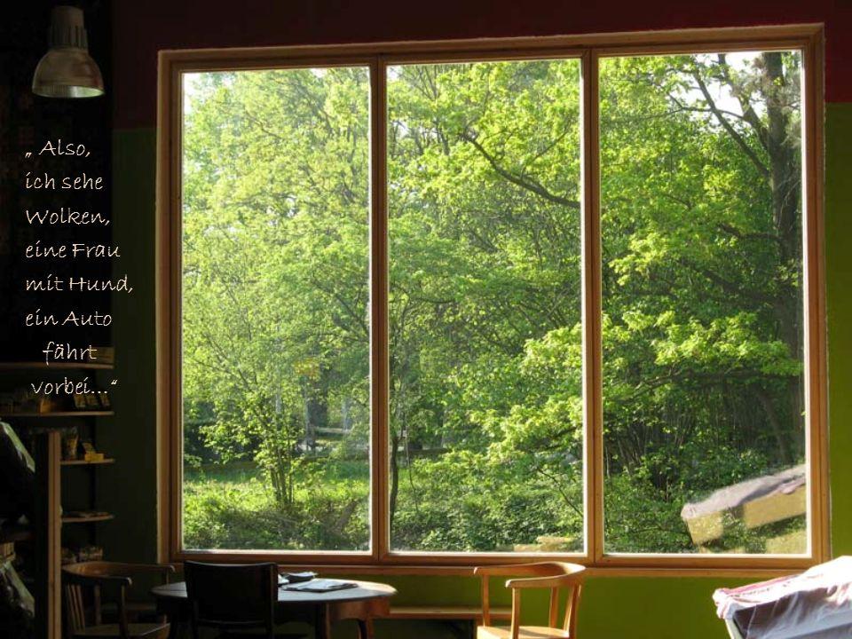 Da fordert der Rabbi den Mann auf, aus dem Fenster zu schauen und zu beschreiben, was er dort sieht.