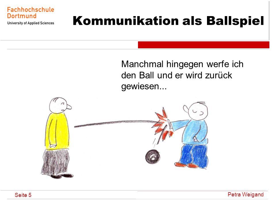 Petra Weigand Seite 6 Kommunikation als Ballspiel...