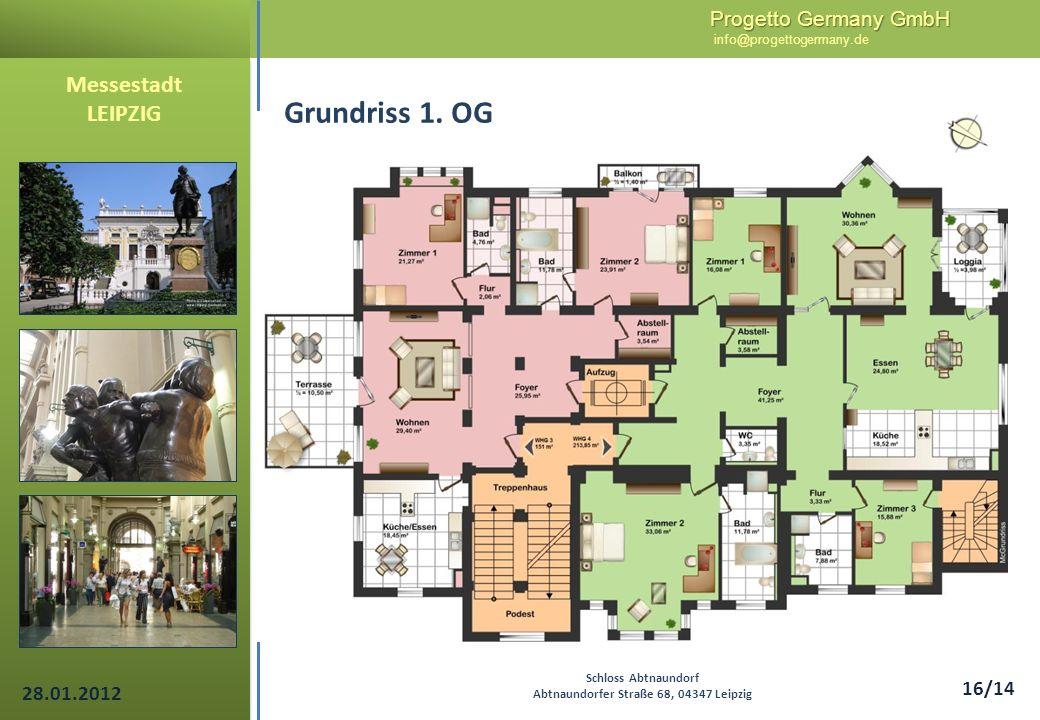 Progetto Germany GmbH Progetto Germany GmbH info@progettogermany.de 16/14 Messestadt LEIPZIG Schloss Abtnaundorf Abtnaundorfer Straße 68, 04347 Leipzi