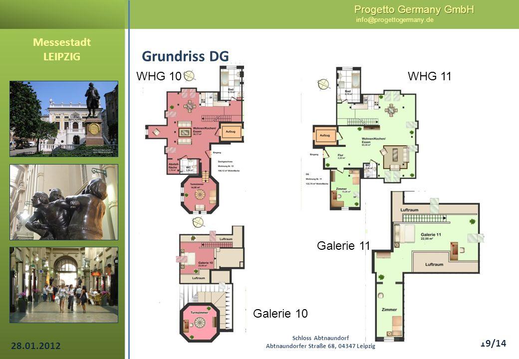 Progetto Germany GmbH Progetto Germany GmbH info@progettogermany.de 19/14 Messestadt LEIPZIG Grundriss DG Schloss Abtnaundorf Abtnaundorfer Straße 68,