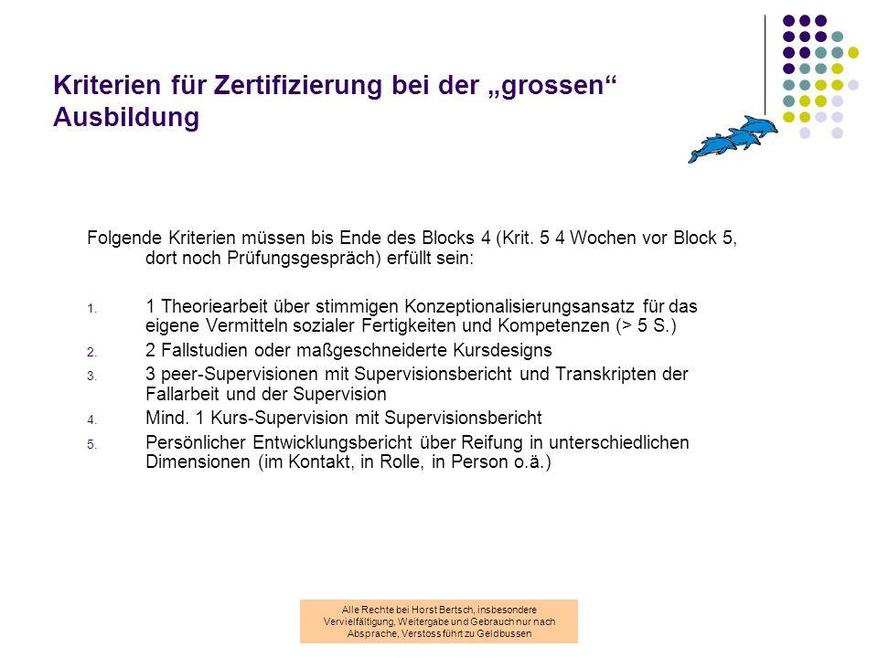 Alle Rechte bei Horst Bertsch, insbesondere Vervielfältigung, Weitergabe und Gebrauch nur nach Absprache, Verstoss führt zu Geldbussen Was leistet die Ausbildung.