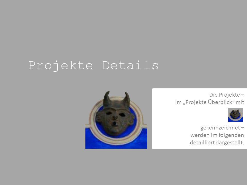 Projekte Details Die Projekte – im Projekte Überblick mit gekennzeichnet – werden im folgenden detailliert dargestellt.