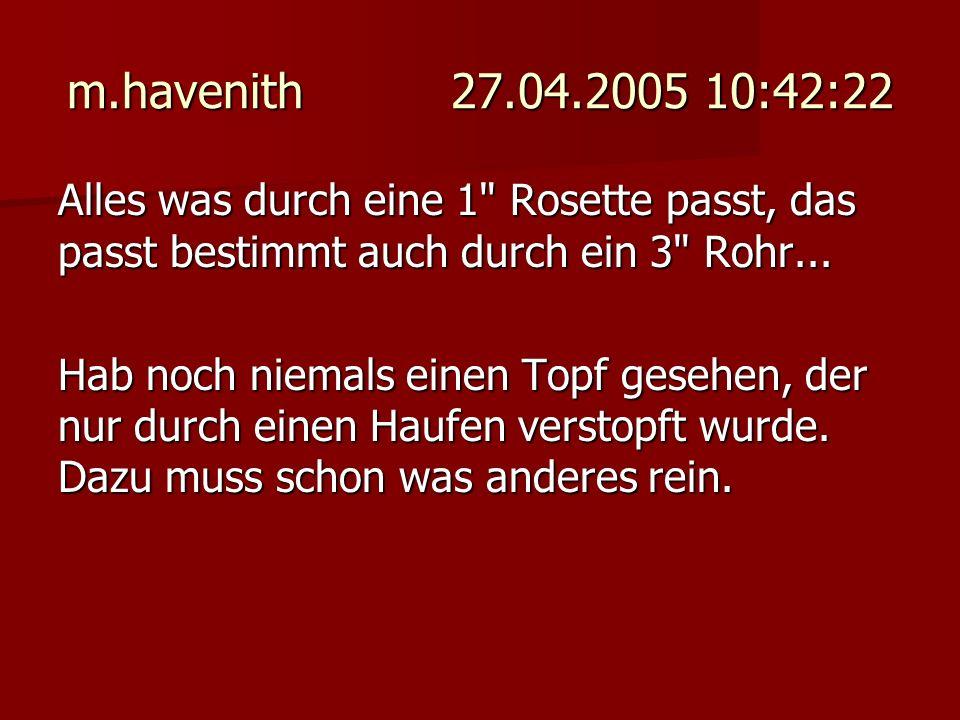 m.havenith 27.04.2005 10:42:22 Alles was durch eine 1