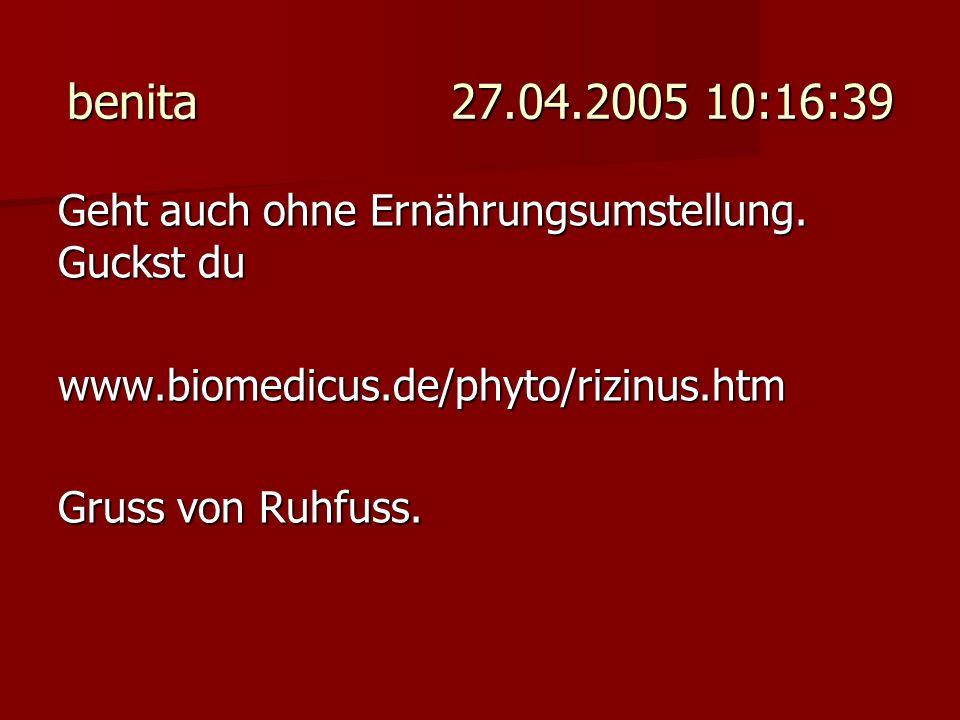 Zockmann 27.04.2005 18:54:44 Also, ich freue mich jemanden mit einem ähnlichen Problem gefunden zu haben.