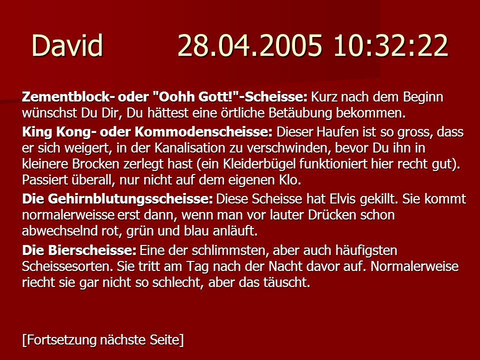 David 28.04.2005 10:32:22 Zementblock- oder